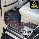 3D Килимки в салон Volkswagen Passat B8 з Екошкіри ( 2014+) з текстильними накидками Пасат Б8, фото 6