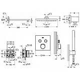 Душевая система скрытого монтажа с термостатом Grohe Grohtherm SmartControl 34506SC0, фото 2