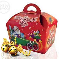 Упаковка для новогодних подарков ларец 500 г