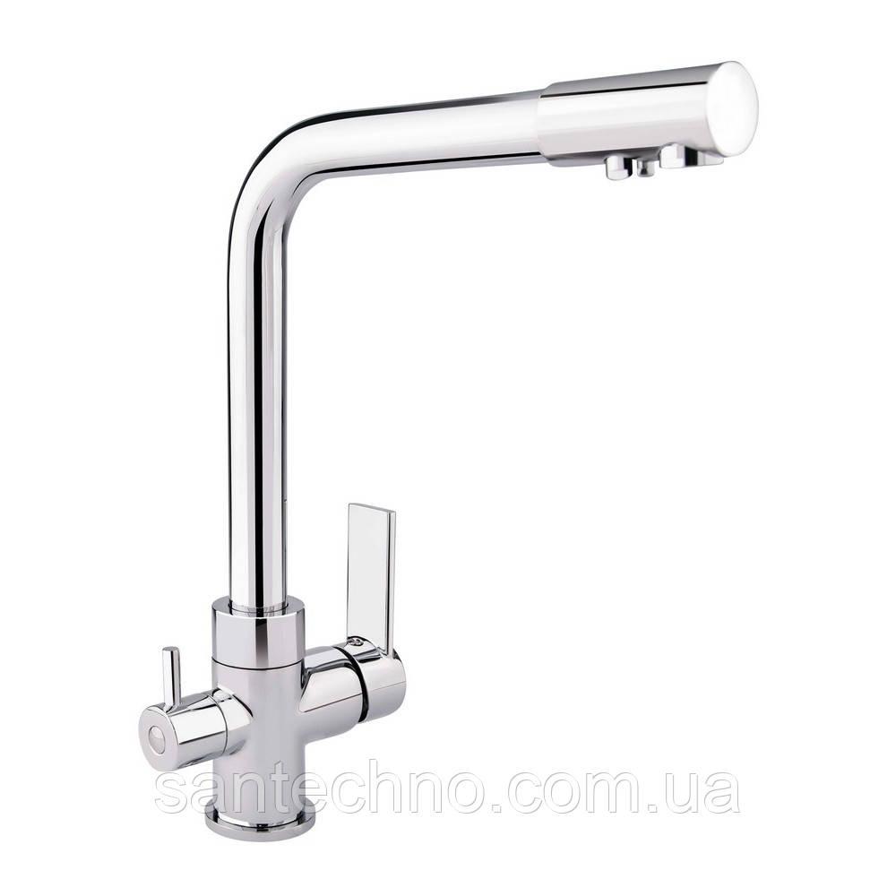 Комбінований змішувач для кухні з фільтром Q-tap Form CRM 007F-2