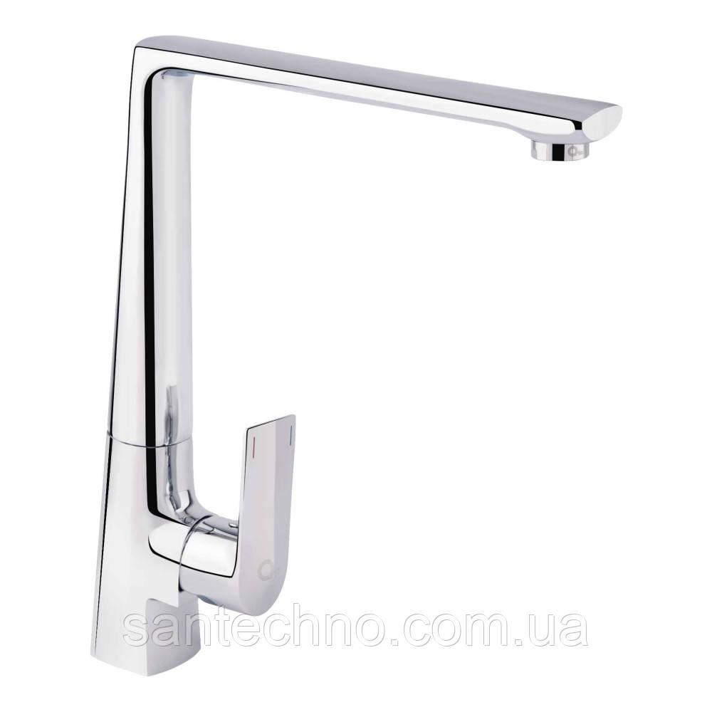 Змішувач для кухні високий важільний Q-tap Estet CRM 007F