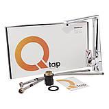 Змішувач для кухні високий важільний Q-tap Estet CRM 007F, фото 5