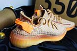 Adidas Yeezy Boost 350 Clay (коричнево-оранжевые), фото 10