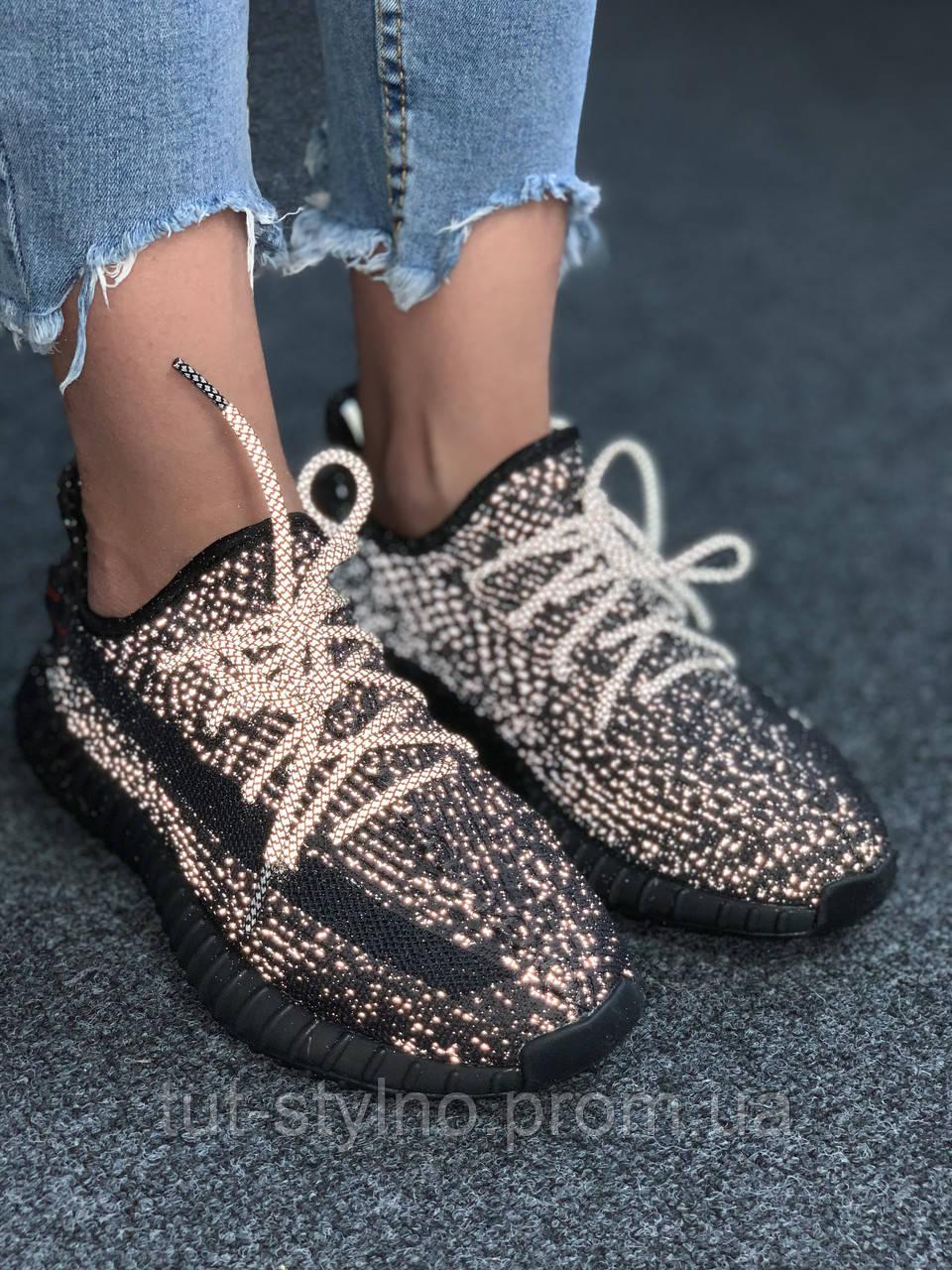Adidas Yeezy Boost 350 Black (черные) (Full Ref)