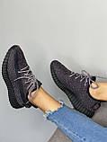 Adidas Yeezy Boost 350 Black (черные) (Full Ref), фото 8