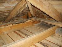Ремонт крыши, замена стропил, опорных балок, стяжка углов