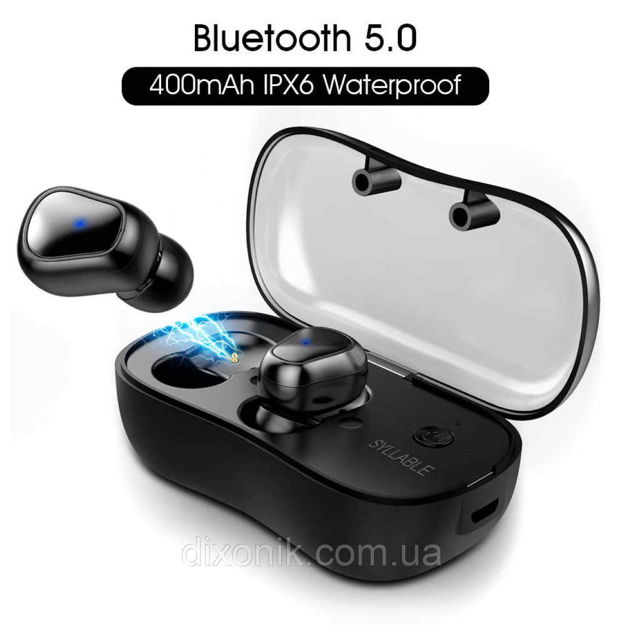 Бездротові навушники SYLLABLE D900P black Bluetooth навушники з блютузом