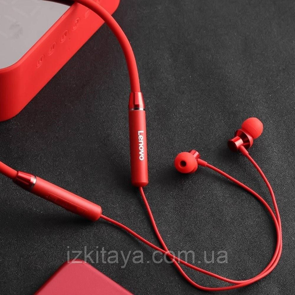 Бездротові навушники Lenovo HE05 red Bluetooth навушники з блютузом