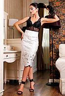 Шикарная белая юбка Долорес В1 Медини 42-44 размер