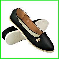 .Женские Балетки Черные Мокасины Туфли (размеры: 36,38,40) - 19