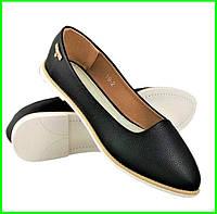 .Женские Балетки Черные Мокасины Туфли (размеры: 36,38,39,41) - 19, фото 1
