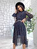 Сукня легка міді в квітковий принт АМ2775, фото 4