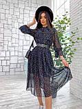Сукня легка міді в квітковий принт АМ2775, фото 3