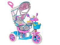 """Трехколесный велосипед """"Тотошка"""" F-96832R, Детский велосипед-коляска с ручкой, свето-музыкальная игрушка"""