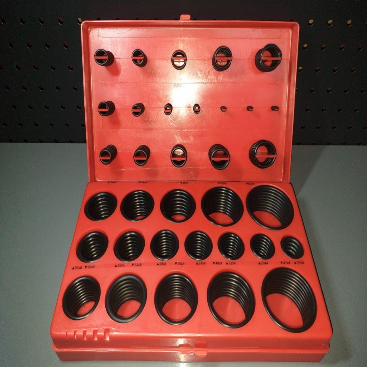 Набор из 394 едениц маслобензостойких уплотнительных резиновых колец для вращающихся валов TOPTUL JGEW394A