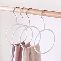 Вішалка-кільце для шарфів, палантинів і хусток. Білий, фото 1