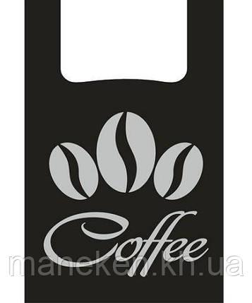 """Пакеты Майка п\э (28+2*7,5х49)"""" черный Кофе"""" (100 шт), фото 2"""