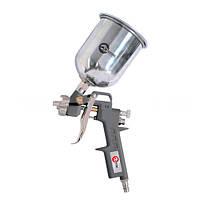 Пневматичний покрасочний пістолет InterTool  з верхнім металевим бачком (d-1,5мм, V-600мл,Р-до 5бар)