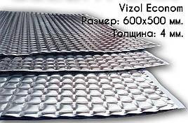 Виброизоляция для авто Vizol Standart 600х500х4мм