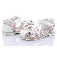 Сандали для девочки. Босоножки для девочки. Сандалии детские ортопедические. Обувь детская, 29 размер (белые)
