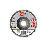 Диск пелюстковий шліфувальний торцевий InterTool 180х22, зерно 150