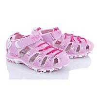 Сандали для девочки. Босоножки для девочки спортивные Сандалии детские Обувь детская, 22 размер (розовые)