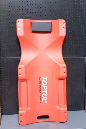 Лежак автослесаря подкатной пластиковый для СТО автосервиса гаража TOPTUL JCM-0300, фото 2
