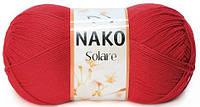 Пряжа Nako Solare 6951 красный (нитки для вязания Нако Соларе) 100% египетский хлопок