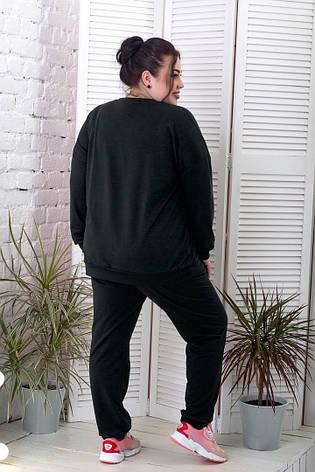 Спортивный костюм женский для полных черный со свитшотом, фото 2