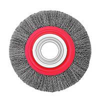 Щітка дискова InterTool (витий дріт d-0,3мм) 150х32мм