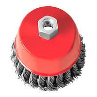 Щітка торцева для УШМ InterTool (пучки витого дроту d-0,5мм) D-125мм, M14