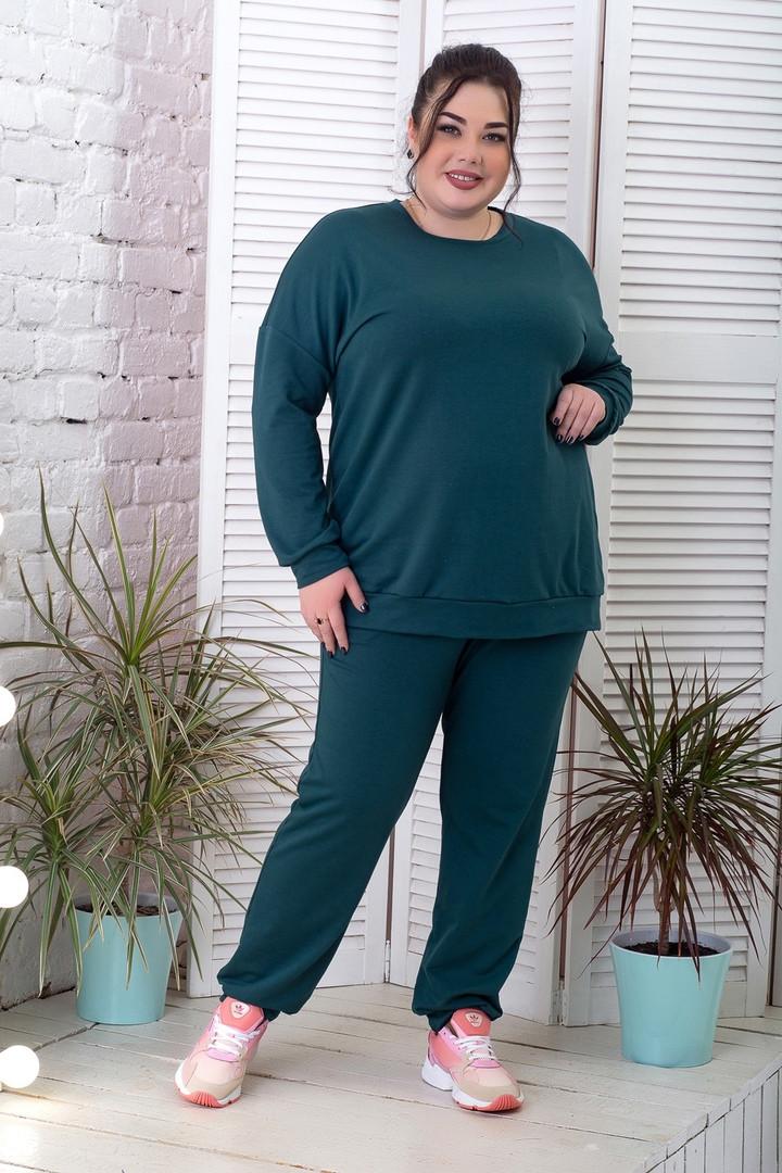 Спортивний костюм зі світшотом для повних жінок зелений