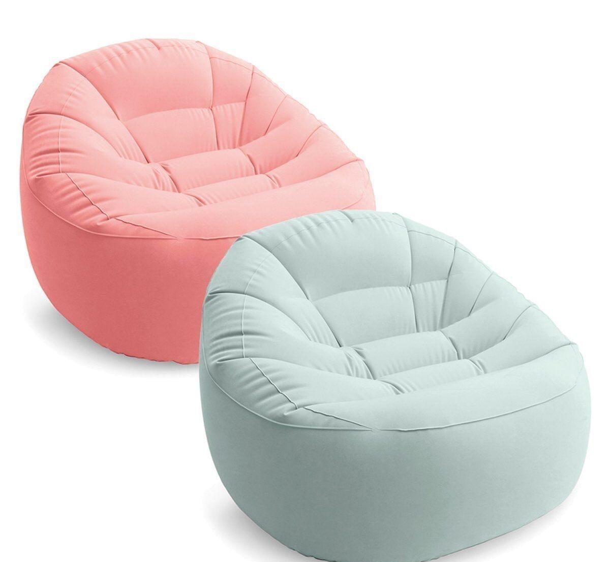 Надувное кресло Intex  68590 NP 2 цвета, 112 х 104 х 74 см