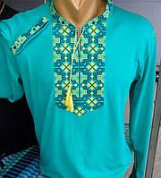 Вышитая мужская трикотажная футболка  211 САК