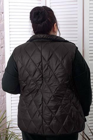 Батальний жіночий жилет стьобаний чорний теплий, фото 2
