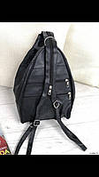 Сумка-рюкзак гитара женская из натуральной кожи