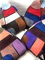 Сумка-рюкзак гитара женская разноцветный натуральный нубук, фото 1