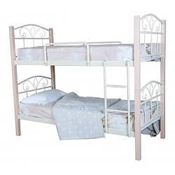 Двоярусне ліжко металеве Лара Люкс Вуд Melbi