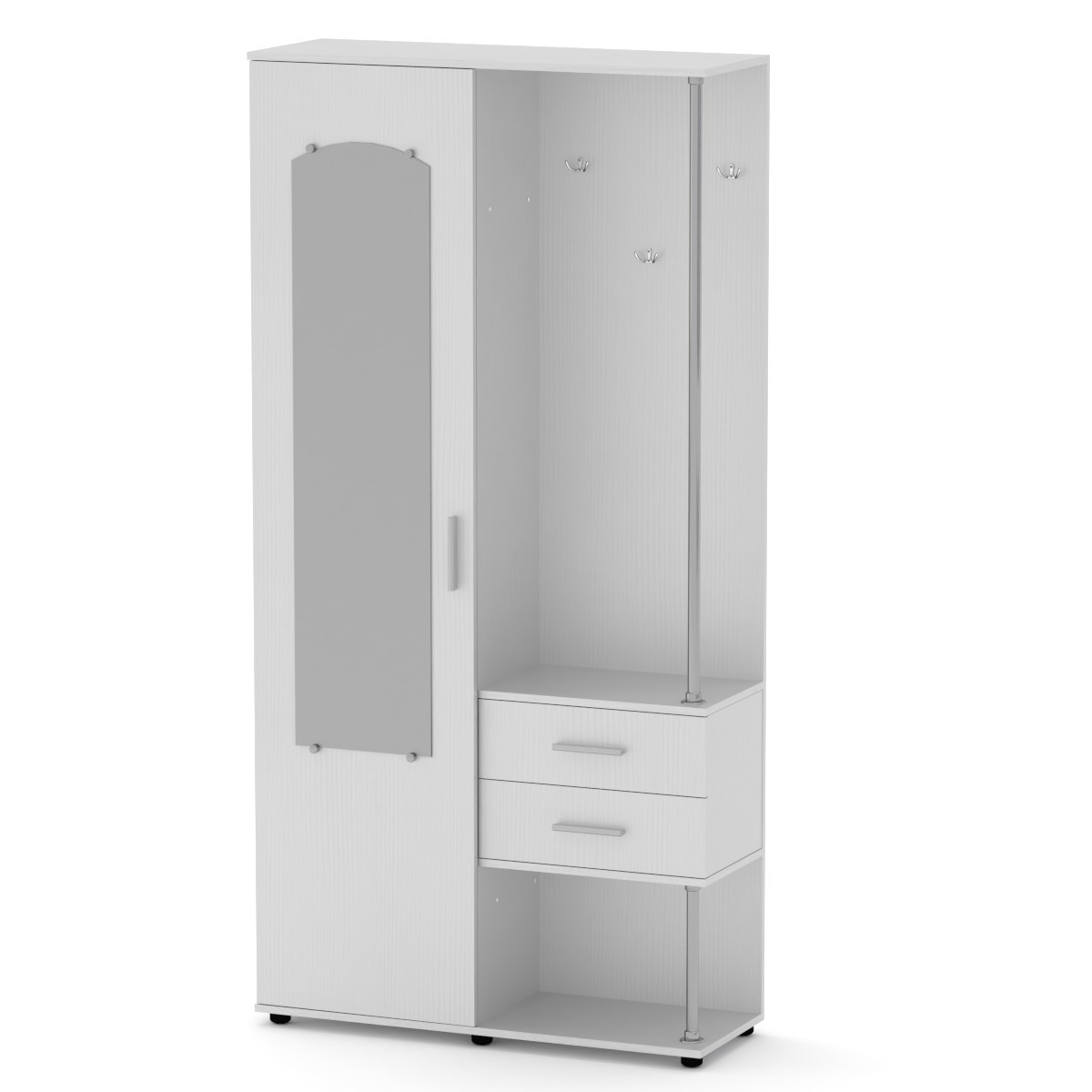Передпокій Надія німфея альба (білий) Компаніт (100х36х203 см)