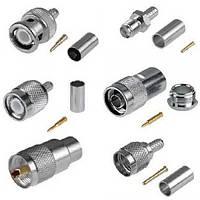 Разъёмы и переходники высокочастотные BNC, UHF, N, SMA, FME, TNC, mini UHF