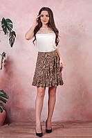 Летняя женская юбка завязывается на запах с воланом