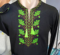 Черная мужская футболка вышитая  214 САК