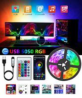 Світлодіодна стрічка 500 см + пульт + контроллер Bluetooth LED RGB 5050 управління зі смартфону