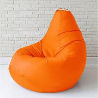 Бескаркасное кресло груша 85х65 см Оранжевое
