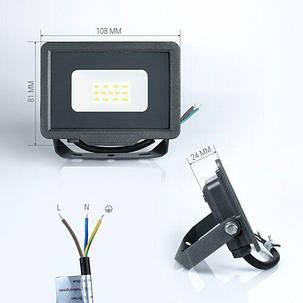 Світлодіодний прожектор BIOM 10W S5-SMD-10-Slim 6200К 220V IP65, фото 2