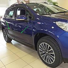 Молдинги на двери для Peugeot 2008 2013-2019