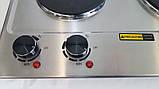 Плита настільна електрична двоконфорочна DSP KD 4047 потужна, Плита, електроплита 2 конфорки побутова, фото 10