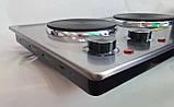 Плита настільна електрична двоконфорочна DSP KD 4047 потужна, Плита, електроплита 2 конфорки побутова, фото 2