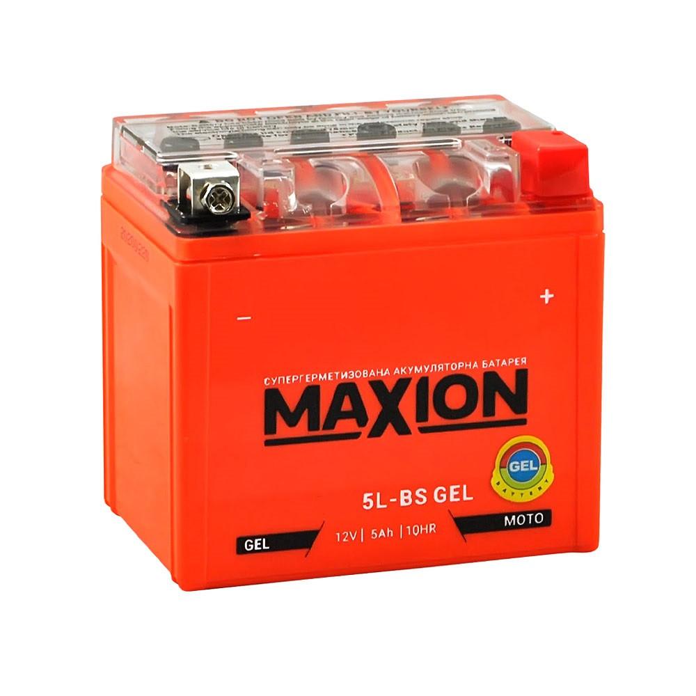 Мото аккумулятор GEL MAXION 12N 5L-BS (12V, 5A)
