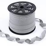 Коса бейка з бавовни світло-сірого кольору 18 мм., фото 2